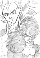 SSJ4 Team by VegetasLittleLover