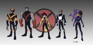 X-Men redesigns by Spidersaiyan