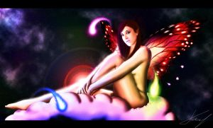 dreaming butterfly girl by Radeon6700