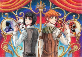 Pierrot and Harlequin by gsemka