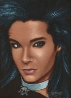 Portrait of Bill in acrylics by VixenDra
