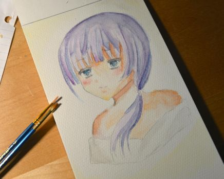 Watercolor sketch by yuuzu-chan