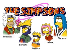 Simpsons Goes Naruto by Tomps93