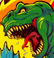 DINOSAURS ATTACK detail crop by pop-monkey