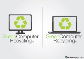 GreenComputerRecycling Logo by MadDesign