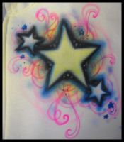 Airbrush-Star design by vampireheartagram27