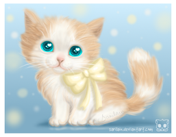 Fuzzy Kitten for My Mom by Sarilain