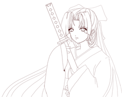 Win95 OS-tan Lineart by Claymore32