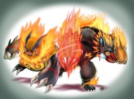 Emboar and Bariblaze