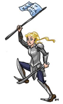 LotR/H: galadriel is gonna kick some maiar butt by Houkakyou