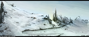 Ruins in the Snow by xabian
