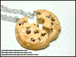 Chocolate Chip BFF Necklace Set by GrandmaThunderpants