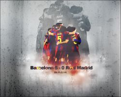 Barcelona 5-0 Real Madrid by BlackSniperGFX