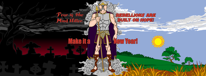 New Years Facebook cover page (Janus) by Eldacur