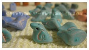 Bluebirdy Artbeads 1 by WireMySoul