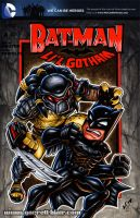 Li'l Batman vs Predator sketch cover by gb2k