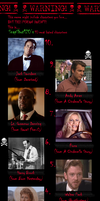 My Top 10 Most Hated Characters by SnapShot120
