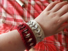 Upcycled bracelets by MinaThomas