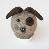 Baby knitted dog hat by bedtimeblues