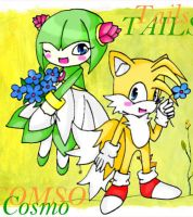 Cosmo and Tails by SweetDarknesz