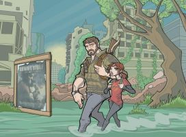 The Last of Us: Joel and Ellie, Full-Color by davidstonecipher