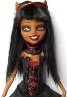 Monster High Custom Clawdia Gothic by AdeCiroDesigns