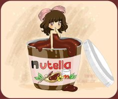 Nutella Chibi Girl by DebbyArts