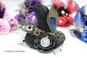 Mini embellished top hat hair clips by LittleShopOfLostArts