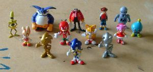 Sonic X figures by EUAN-THE-ECHIDHOG