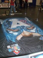 Captain America In Chalk by Q-Branch