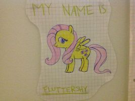 Trying to draw fluttershy by DeLowl
