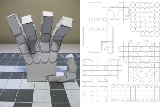 Paper Hand [Template] by Heyro0
