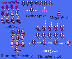 GenieWoman Sprite Sheet by hfbn2