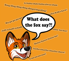 What Does the Fox Say? -- RedBubble Design by AlexDachshund