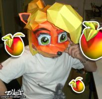 Coco Bandicoot - Papercraft Mask by Zellphie