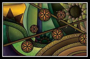 Art Deco+Nouveau Stained Glass by Skarlet-Raven