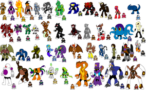 GMN Robot Masters by YingYangHeart