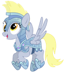 Derpy Captain of the Crystal Army by Blanishna