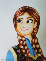 Disney Frozen Anna by erindwiazmi