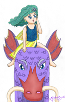 Rydia and Leviathan by MelodyCrystel