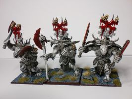 Bloodcrushers of Khorne Black and White view 2 by McGoe