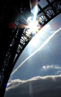 Eiffel Tower with a sun by Natiaaa