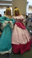 Megacon Peach and Rosalina by kingofthedededes73