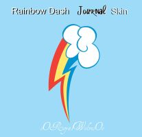 Rainbow Dash Journal Skin by oORoyalWolvesOo