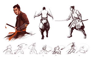 Samurai Character Sheet by brianboyster