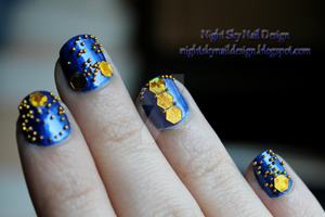 31 Day Challenge, Day 5: Blue Nails by nightskynaildesign