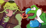 King of the River VS Anthropomorphic Dinosaur by FirewolfNightNight