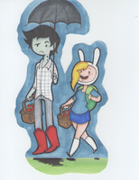 Marshal Lee and Fionna by Fox-In-Boots