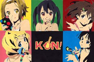 K-on! collage by D-Techno-life