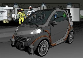 BTTF Smart Car INKED version 1 by calamitySi